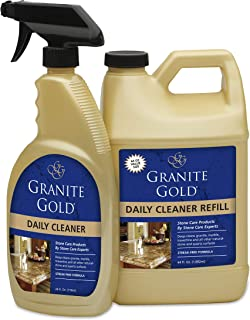 Granite Gold Daily Cleaner Spray and Refill Value Pack Streak-Free Cleaning for Granite,..