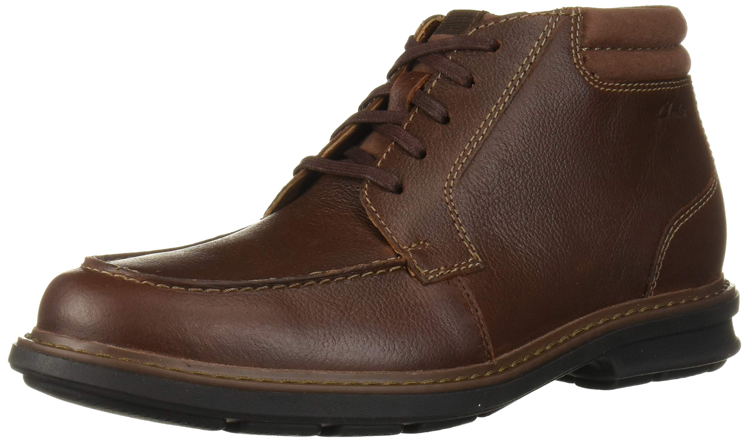 CLARKS Rendell Ankle Mahogany Leather