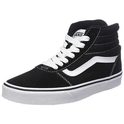 4017a53b81c37a Vans Men s Ward Hi Suede Canvas Top Trainers Black