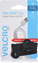 VELCRO Brand ONE-WRAP Ties - Cable Management, Wires & Cords - Self Gripping Cable Ties, Reusable - 3 Ct, Black