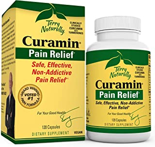 Sponsored Ad - Terry Naturally Curamin (2 Pack) - 120 Vegan Capsules - Non-Addictive Pain Relief Supplement with Curcumin ...