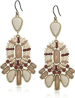 Women's Seed Bead Statement Earrings
