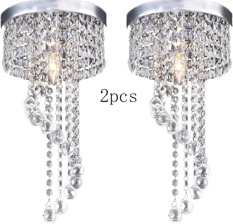 E14 moderne LED-Birnen-Deckenleuchte-Pendelleuchte, die Kristallleuchter beleuchtet (Design   2pcs)