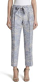 Women's Floral Jaquard Ankle Pant