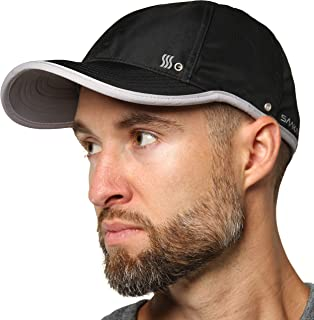 SAAKA Lightweight Sport Hat for Men. Fast Drying, Stays Cools. Best for Running, Tennis, Golf & Working Out.