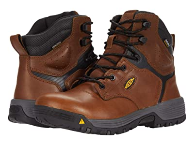 Keen Utility Chicago 6 Waterproof (Soft Toe) (Tobacco/Black) Men