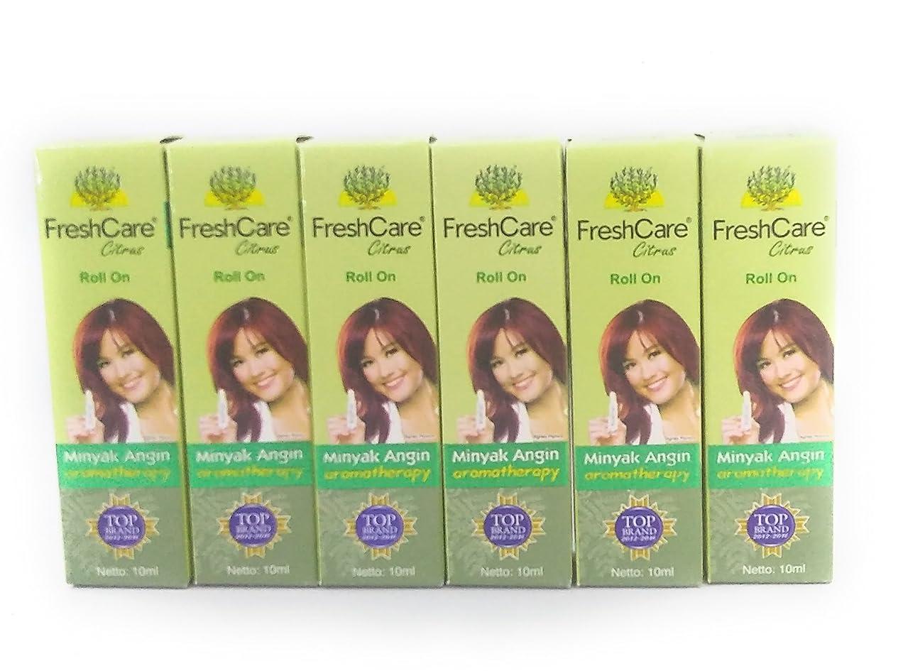 トリプル前に期限FreshCare フレッシュケア薬用オイルアロマセラピー - シトラス、10ミリリットル(6パック)