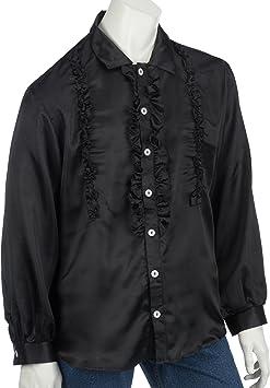 Rubies 1 4870/008 56 - Camisa con chorreras en color negro ...