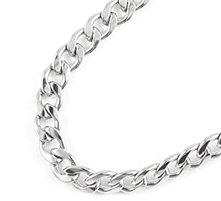 JFSG 316L Stainless Steel Curb Link Chain Necklace For Men Or Women 6mm, 8mm, 9mm 16, 18, 20, 22, 24, 26, 28, 30, 32, 34, 36 Inch