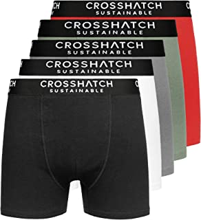 Crosshatch Mens Boxers Shorts (5 Pack) Multipack Underwear Gift Set Colour Mens Trunk Boxers(S,Orlander-Mix-A)