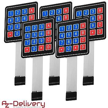 pulsanti tastierino matrice numerica 1x4 4x1 arduino Tastiera membrana 4 tasti
