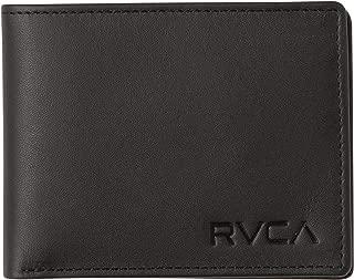 RVCA Crest Bi-Fold Leather Wallet Black