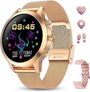 GOKOO Smartwatch Mujer Reloj Inteligente Pulsera de Actividad IP68 Impermeable Pulsómetros Elegante Reloj Inteligente Fitn...