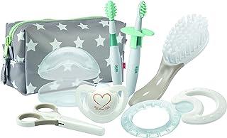 Nuk - Set de Bienvenida para Bebés - Neceser con Accesorios para la Rutina Diaria - 7 Productos