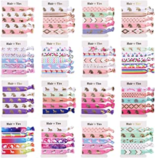 Unicorn Hair Ties Bracelet, 80Pcs, Party Favors Birthday Gifts Supplies, Elastic Ponytail Holders Decorations for Girl and Children