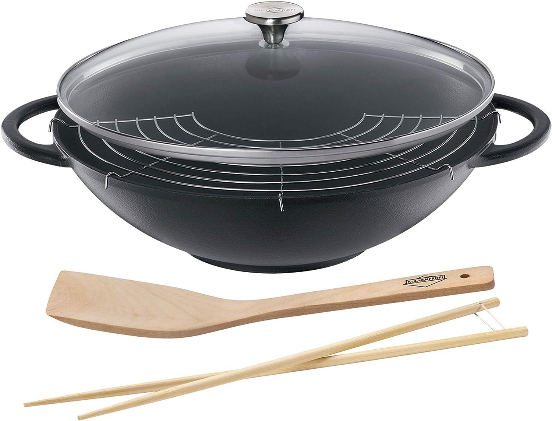 Küchenprofi 0415001037 - Juego de Wok, Color Negro