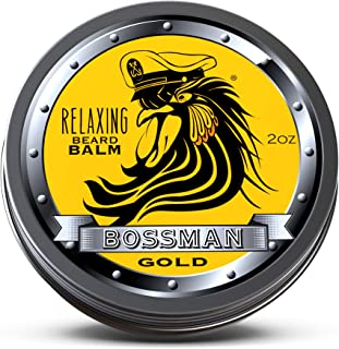 Bossman Relaxing Beard Balm - Nourish, Thicken and Strengthen Your Beard (Gold)