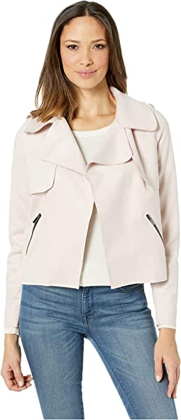 Jacee Draped Moto Jacket