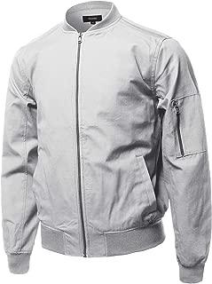 Men's Classic Basic Style Zip Up Long Sleeves Windbreaker Bomber Jacket