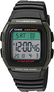 Casio Men's Classic Quartz Resin Strap, Black, 21.5...