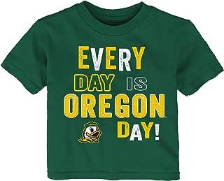 NCAA Oregon Ducks Toddler Everyday Short Sleeve Tee, 2T, Hunter Green