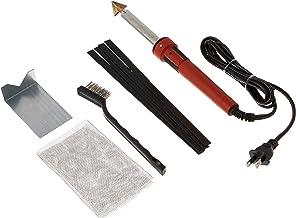 Plastic Welding Kit with Black Plastic Rods and Mesh, 80 Watt Iron
