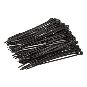 Amazon Basics Multi-Purpose Cable Ties - 4-Inch/100mm, 200-Piece, Black