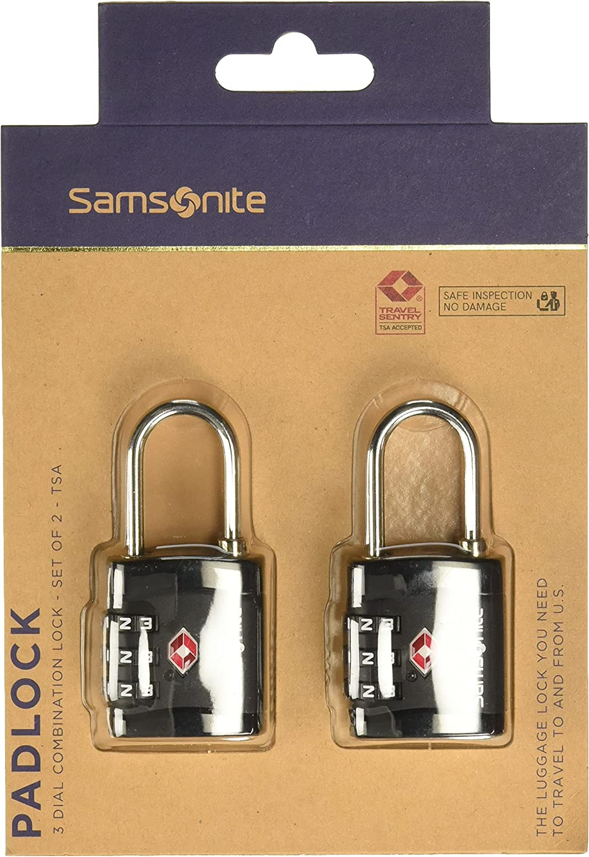 Samsonite Global Travel Accessories - Three Dial TSA Combi Candado para Equipaje 7 Centimeters 1 Negro (Black)