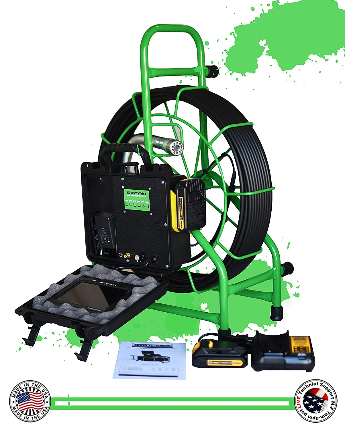 SECON-Extreme 150' Mainline Cordless Color Made Sewer in Camera Bombing new All stores are sold work