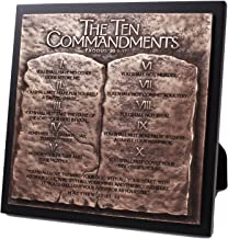 Lighthouse Christian Products Moments of Faith Ten Commandments Sculpture Plaque, 8 3/4 x 8 3/4