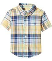 Ralph Lauren Baby - Yarn-Dyed Madras Short Sleeve Button Down Top (Infant)
