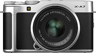 كاميرا رقمية بدون مراة من FUJIFILM X-A7 / طقم عدسات 15-45 مم (فضي)