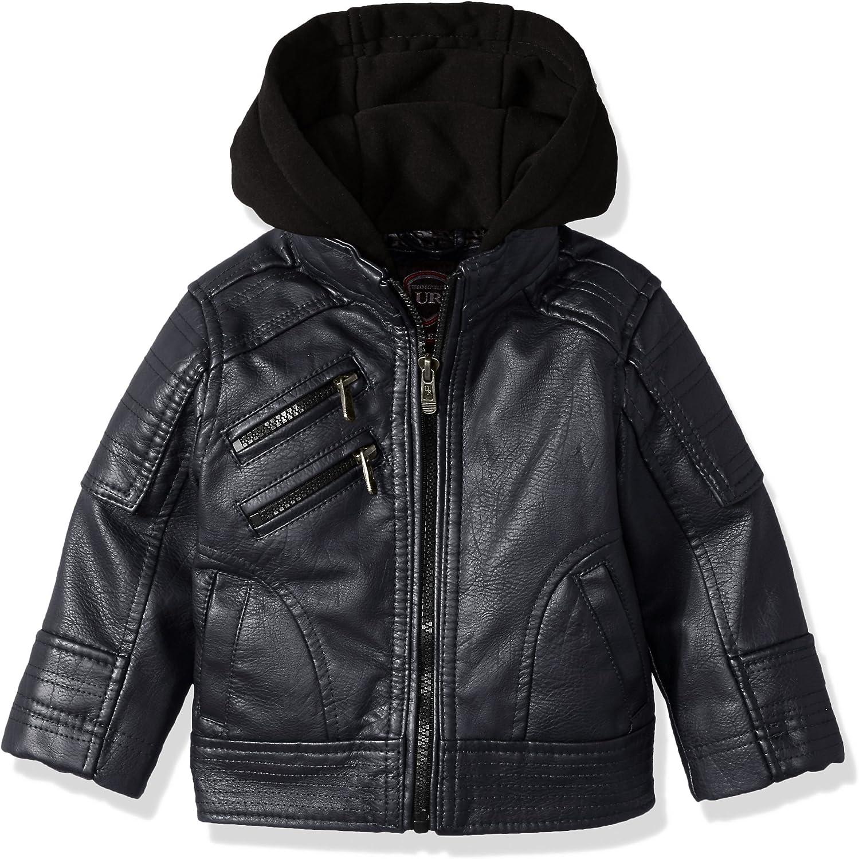 URBAN REPUBLIC baby-boys Artsy Faux Leather Moto Jacket