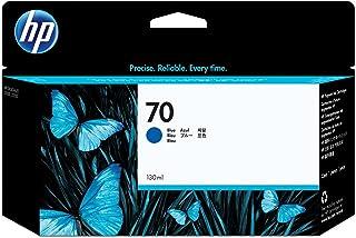 HP Original No.70 130 ml 墨盒 - 黑色 7.62 cm 3 蓝色
