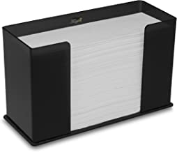 TrippNT 52914 Countertop Paper Towel Holder, Black, Acrylic, 11 1/4 X 6 5/8 X 4 5/8 inches WHD