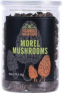 VIGOROUS MOUNTAINS Dried Morel Mushrooms 4 Ounce Wild Morchella 2-3cm