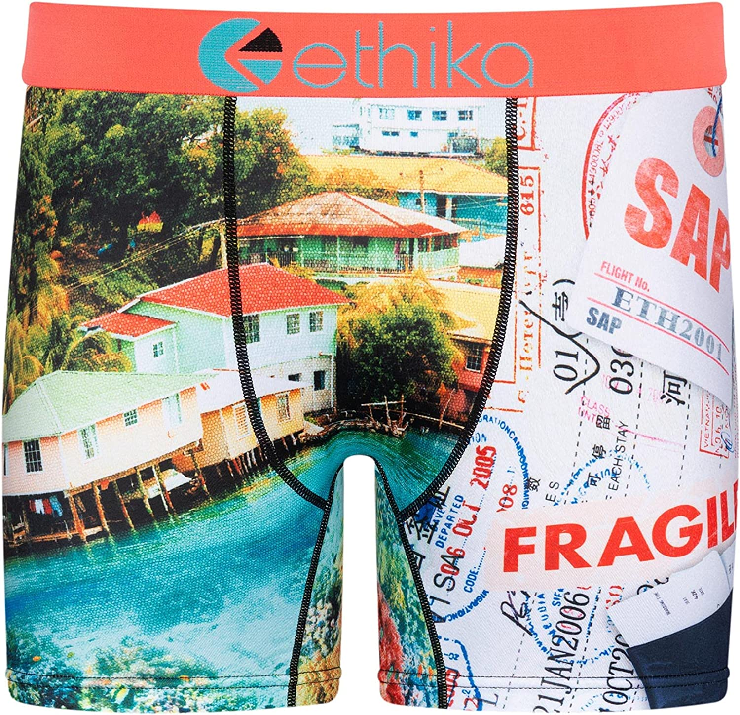 Ethika Mens Mid Boxer Briefs   Fly Out