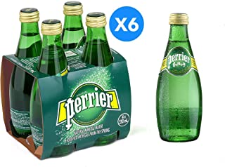 Perrier Natural Sparkling Water  Glass Bottel 24*330 ML
