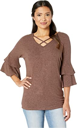 Crisscross Neck Tunic