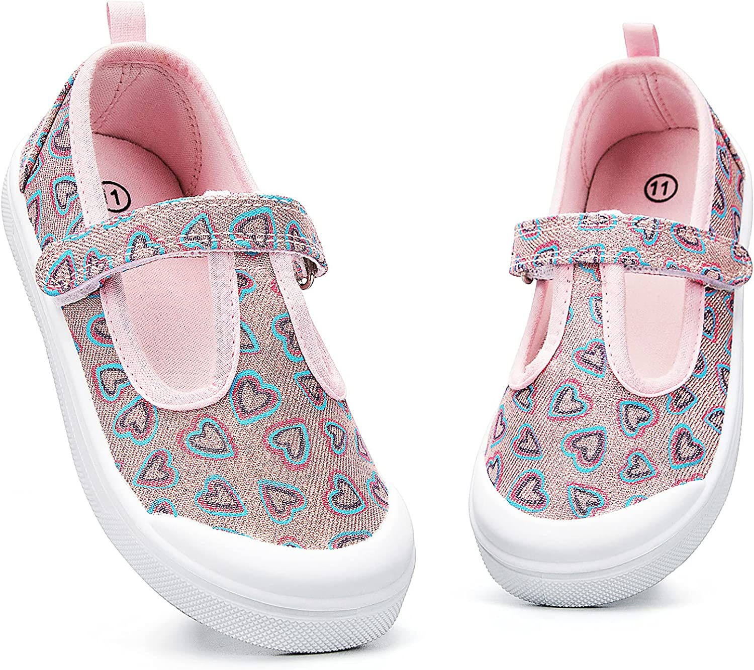 K KomForme Toddler Girls Shoes Little Super beauty product restock quality top Jane Canv Flats Mary Kids 70% OFF Outlet