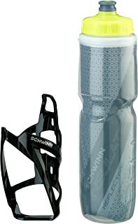 Schwinn Reflective Insulated Water Bottle with Cage, 26 oz