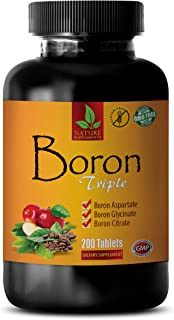 Testosterone Booster Capsules for Men - Mental Focus and Energy Supplements - Boron Triple Dietary Supplement - Boron Supp...