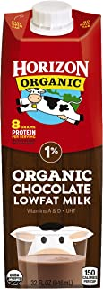 Horizon Organic, 1% Lowfat Organic Milk, 32 Ounce (Pack of 6), Shelf Stable Organic Lowfat Milk, Great for the Pantry, Carton Locks in Fresh Taste Without Refrigeration or Preservatives
