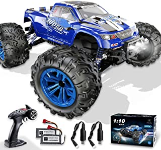Soyee RC Cars 1:10 Scale RTR 46km/h High Speed Remote Control Car All Terrain Hobby Grade 4WD Off-Road Waterproof Monster ...