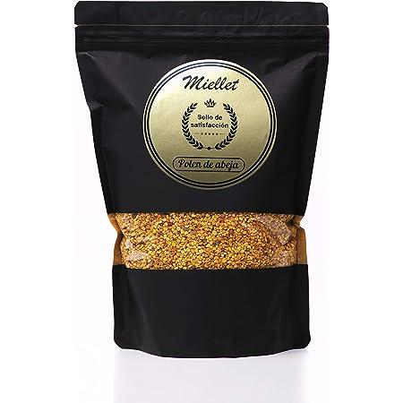1kg - Miellet - Polen de abeja certificado 100% de origen español. Complemento alimenticio, rico en proteínas, vitaminas B1, B3, minerales, omega-3, ...