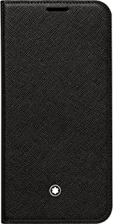 Genuine Montblanc 115840 Sartorial Flip Leather Cover Case for Samsung Galaxy S7 Edge - Black
