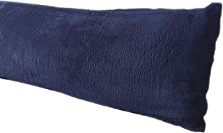AUCOCU Extra Soft Body Pillow Cover, Sherpa/Microplush Material, 20x54 Inches, Zipper Closure (Navy)
