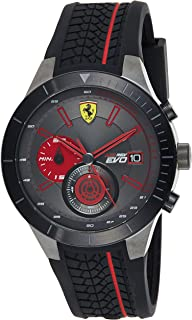 Ferrari Mens Quartz Watch, Analog Display and Silicone Strap 830341
