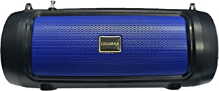 Gigamax GM303 Portable Bluetooth Speaker System Mobile Stand, USB Port, AUX 3.5mm input jack, TF Micro Card SD - Black Blue