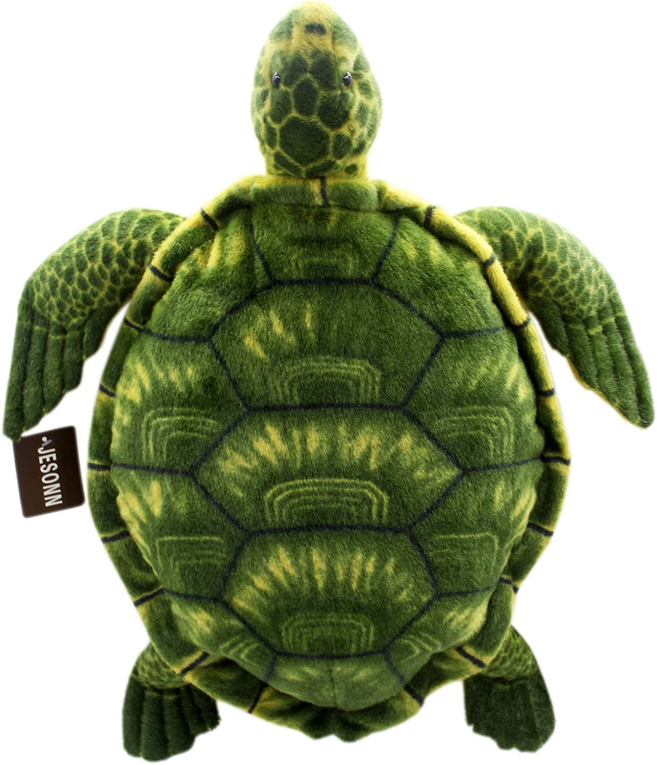 Jesonn Realistic Soft Stuffed Marine Animals Toy Turtle Plush for Kids' Pillow and Gifts,Grün,20 or 50CM,1PC